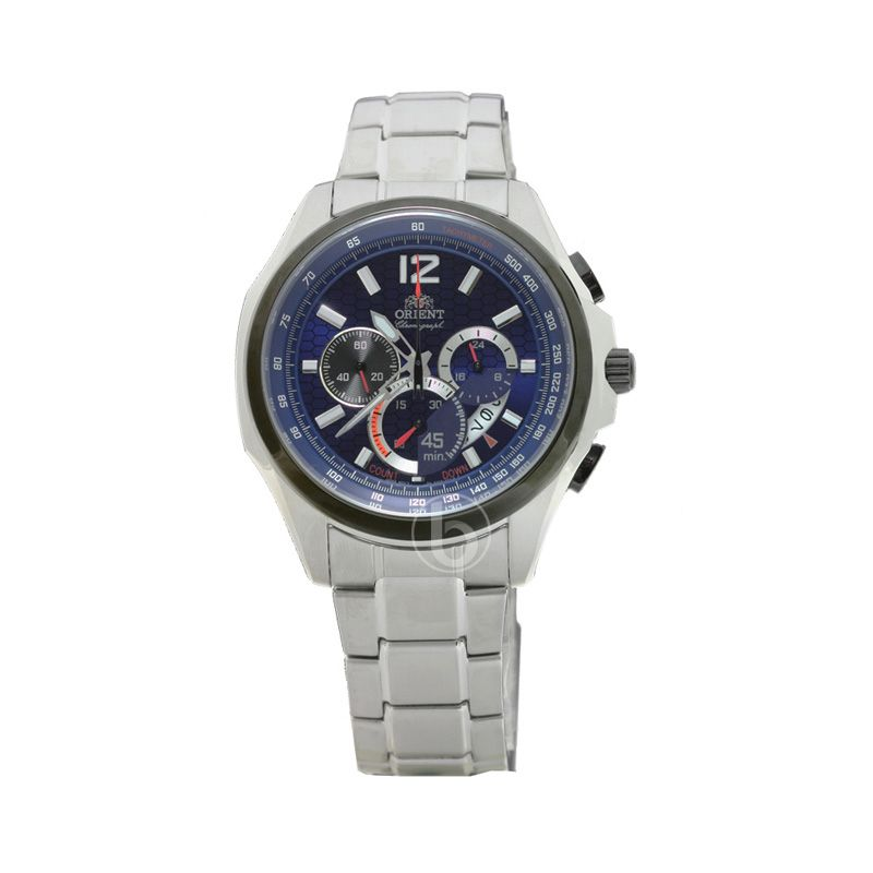 Orient Quartz Stopwatch Chronograph FSY00002D0 White Jam Tangan Pria