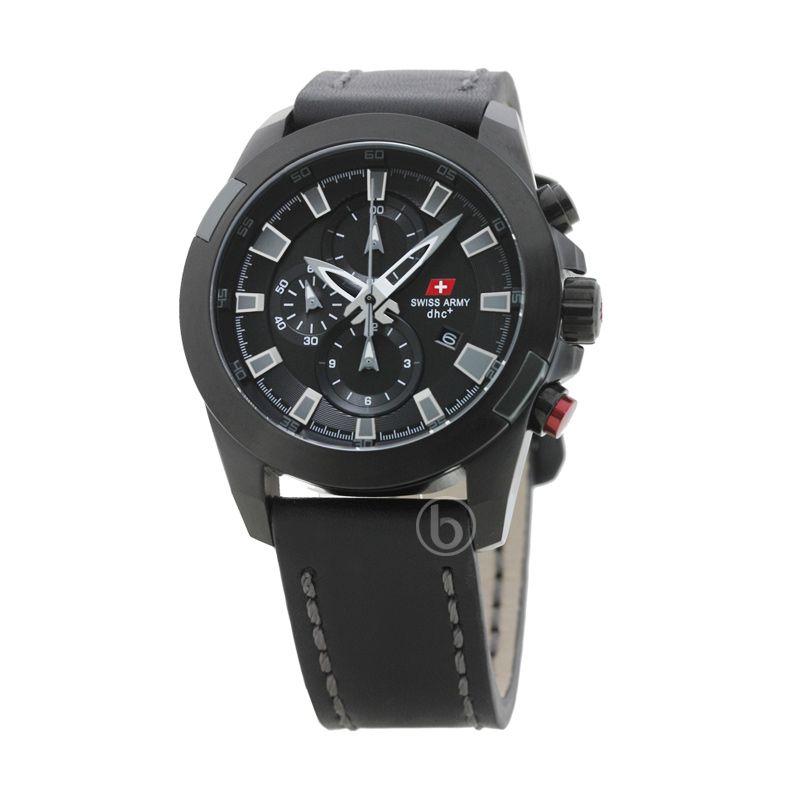 Swiss Army SA 2189 M Ipb Chronograph Dial Hitam Jam Tangan Pria