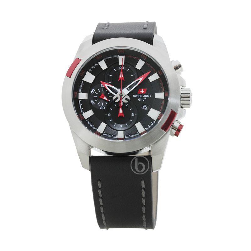 Swiss Army SA 2189 M Ss Chronograph Dial Hitam Jam Tangan Pria