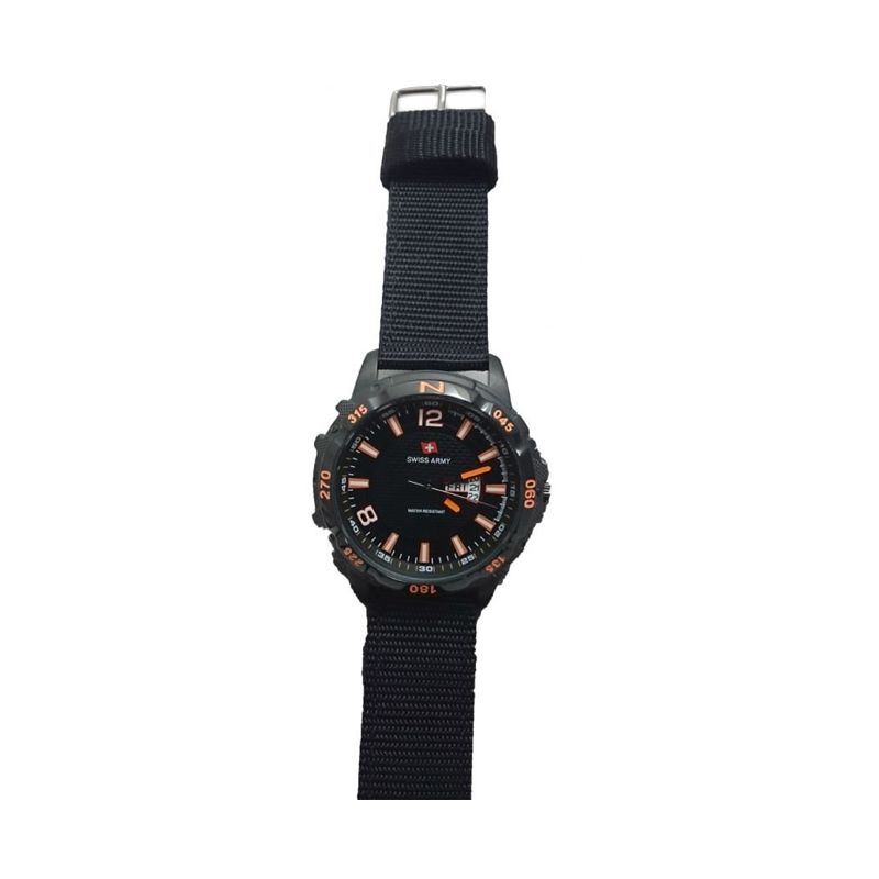Swiss Army 1049-3 GC Body Black Jarum Orange Jam Tangan Pria