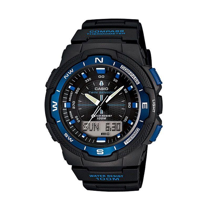 Casio Outgear SGW-500H-2BV Black Blue Jam Tangan Pria