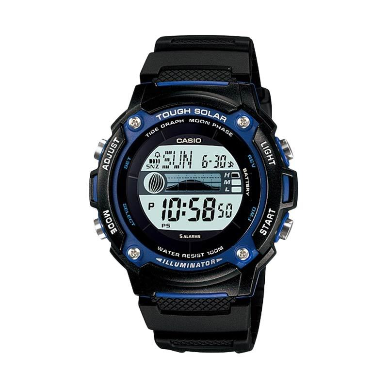 Casio Standard W-S210H-1AV Black Jam Tangan Pria