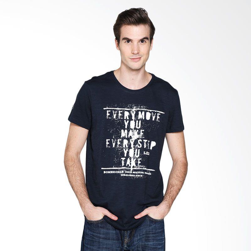 BOMBBOOGIE Breathless Tee Navy 12693B4NA T-shirtPria Extra diskon 7% setiap hari Citibank – lebih hemat 10% Extra diskon 5% setiap hari