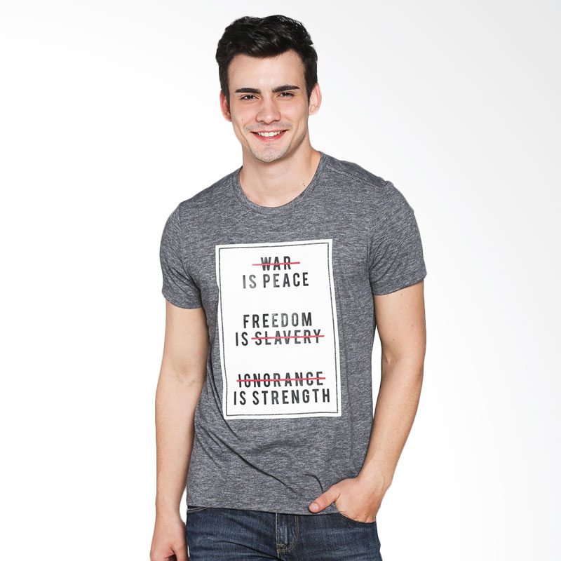 BOMBBOOGIE Peace Mission Tee 12707B6GY T-shirt - Grey Extra diskon 7% setiap hari Extra diskon 5% setiap hari Citibank – lebih hemat 10%