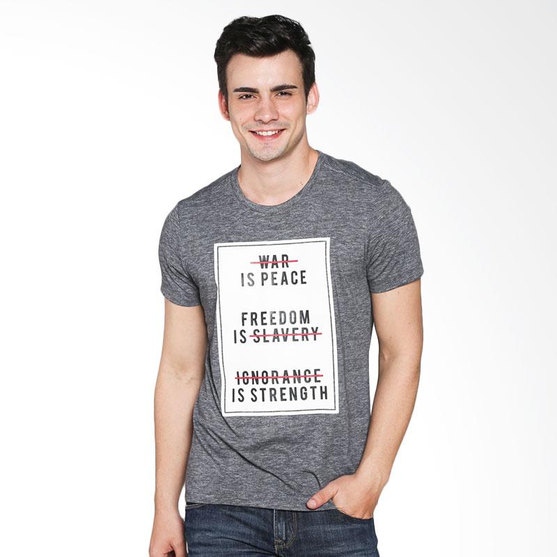 BOMBBOOGIE Peace Mission Tee 12707B6GY T-shirt - Grey Extra diskon 7% setiap hari Extra diskon 5% setiap hari Citibank – lebih hemat 10%