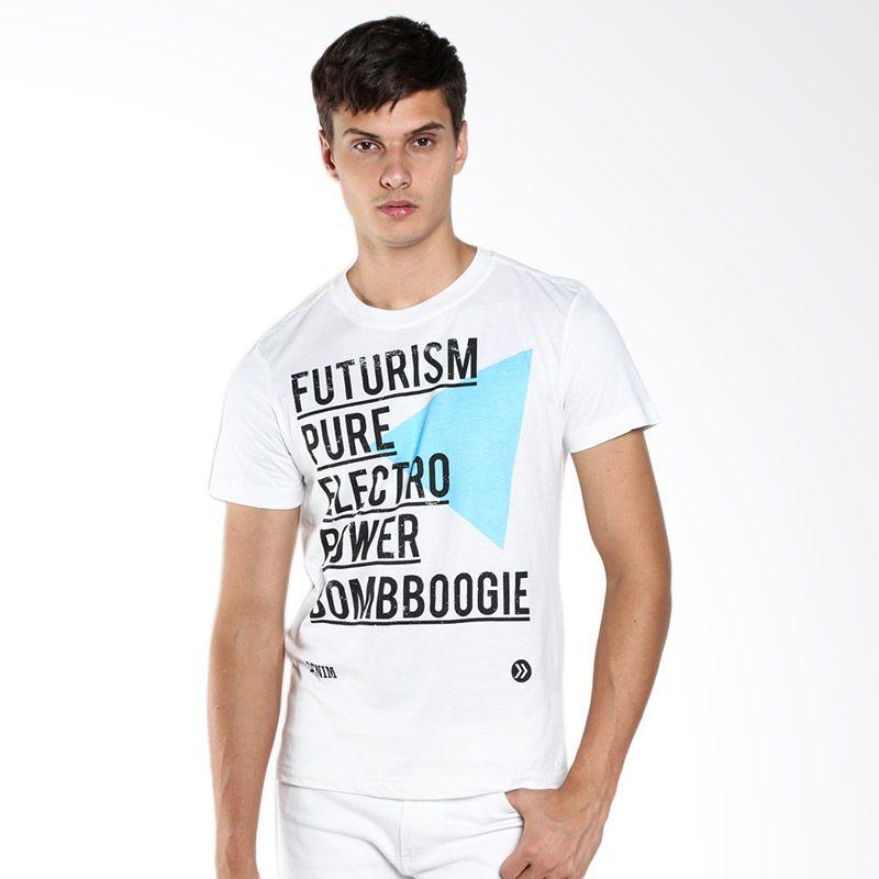 BOMBBOOGIE Pure Power Off Tee 12598B4OW White T-Shirt Extra diskon 7% setiap hari Extra diskon 5% setiap hari Citibank – lebih hemat 10%