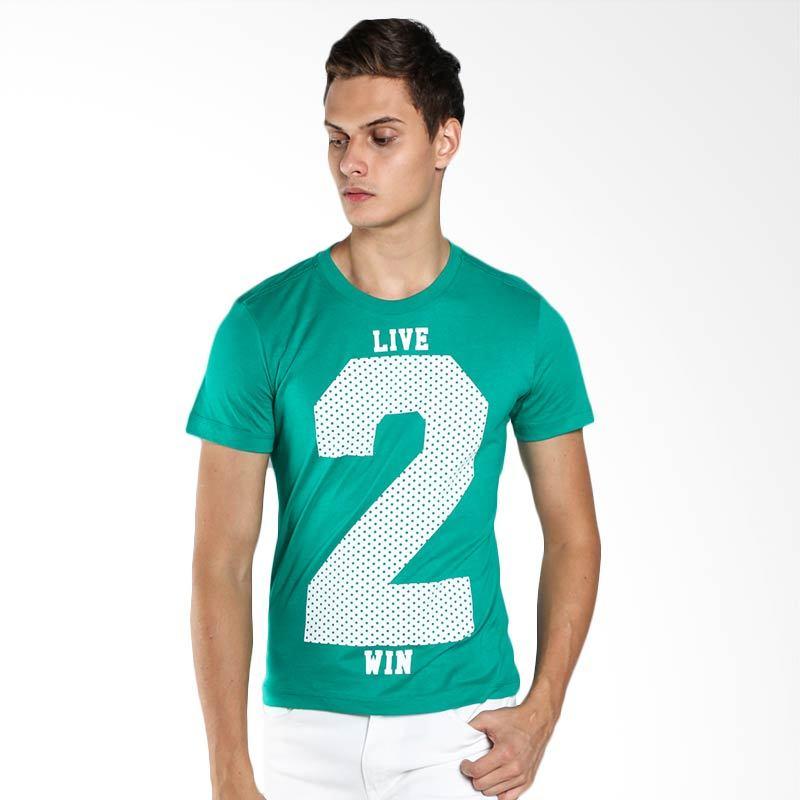 BOMBBOOGIE Twice Tee 12636B4GN Green T-Shirt Extra diskon 7% setiap hari Extra diskon 5% setiap hari