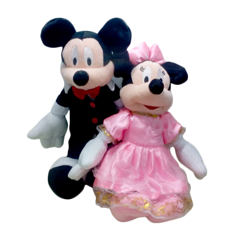 Boneka Murah Lucu Mickey Minnie Wedding Black White Boneka
