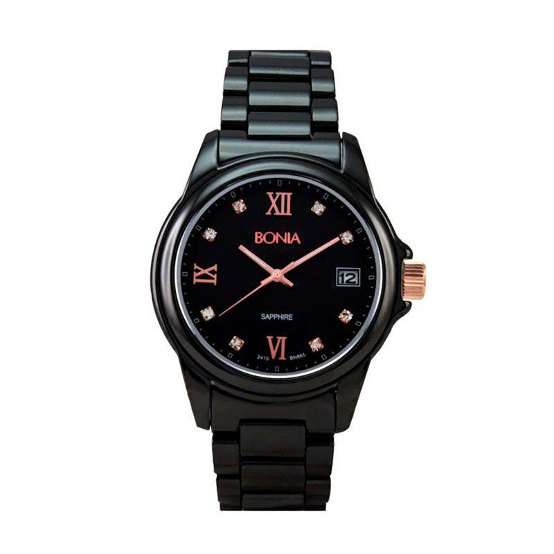Bonia BN865-1533 Black Jam Tangan Pria