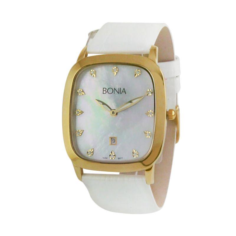 Bonia BN877-3257 White jam tangan wanita