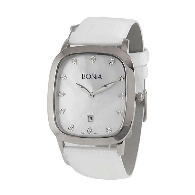 Bonia BN877-3357 White jam tangan wanita
