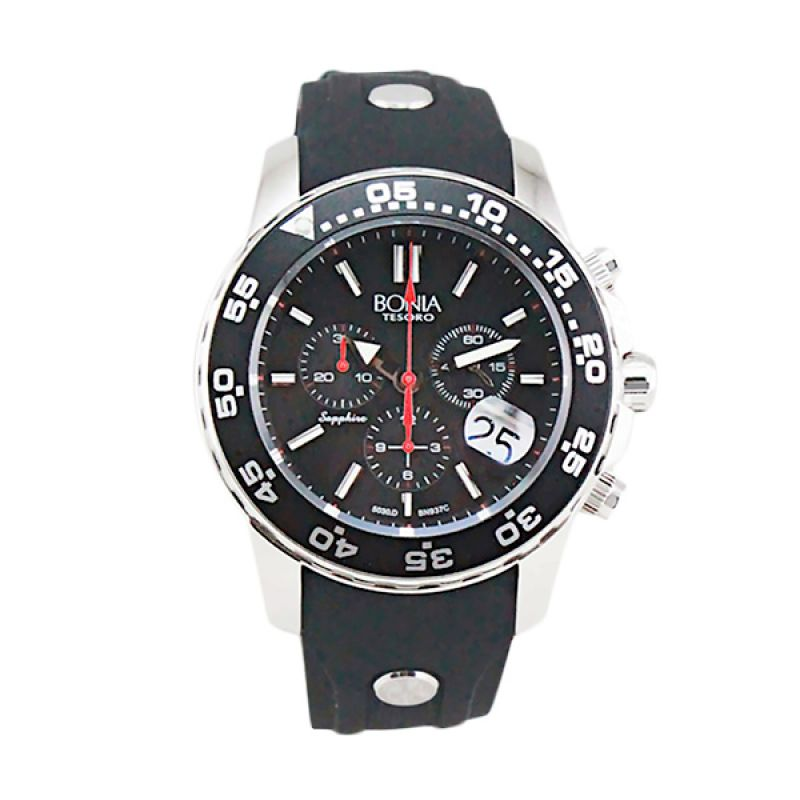 Bonia BN937-1332C Black Jam Tangan Pria