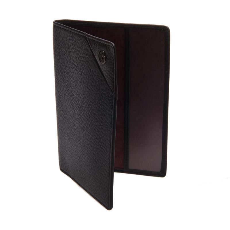 Bonia Affari Leather Black Passport & Card Holder