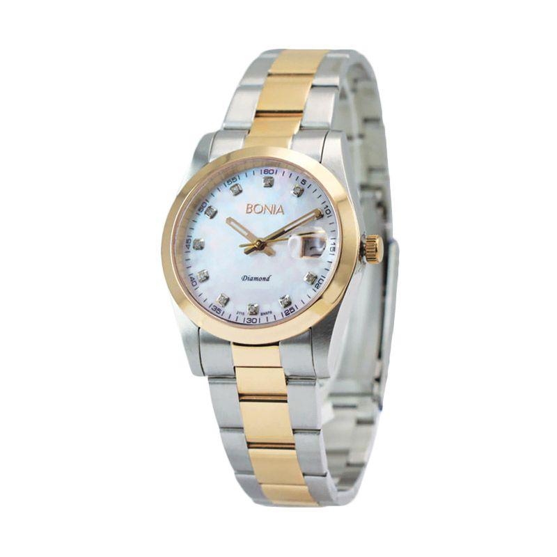 Bonia BN979-1156 Silver Rose Gold Jam Tangan Pria