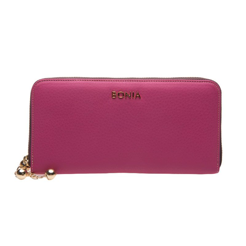 BONIA Clarissa Leather Fuschia Wallet