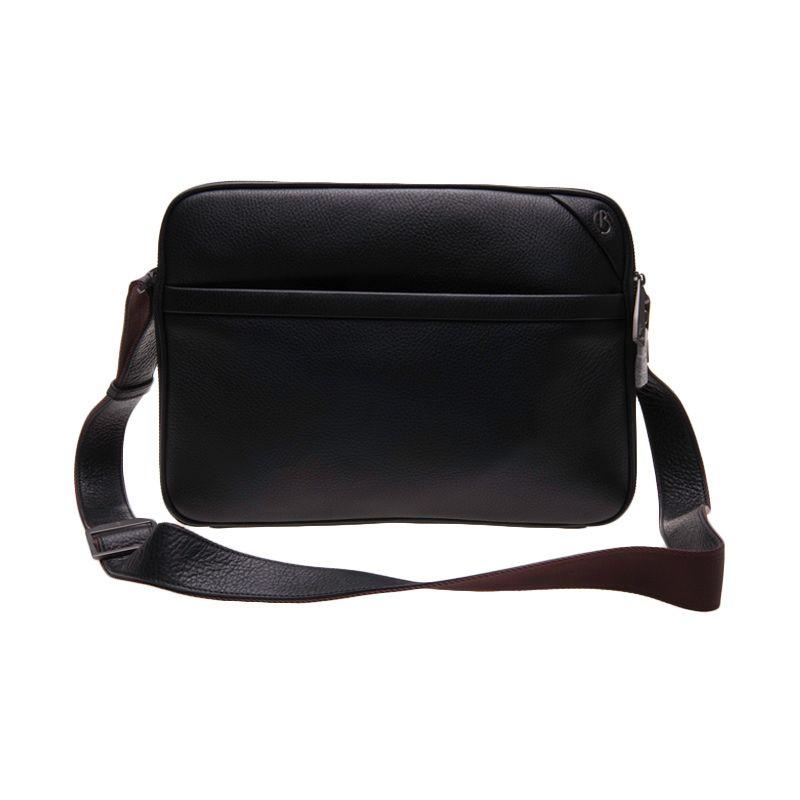 Bonia Document Basic Black Sling Bag Tas Selempang