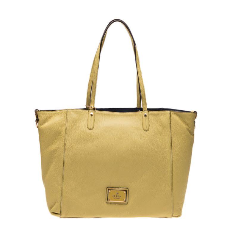 Bonia Full Leather Maya Lime Tote Bag Tas Tangan [Medium]