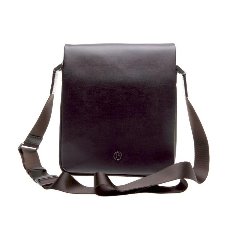 Bonia Leggero Dark Brown Messenger Sling Bag Tas Selempang