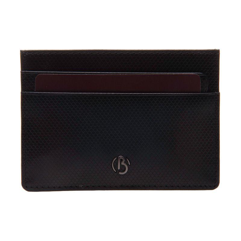 Bonia Pachelbel Leather Black Card Holder