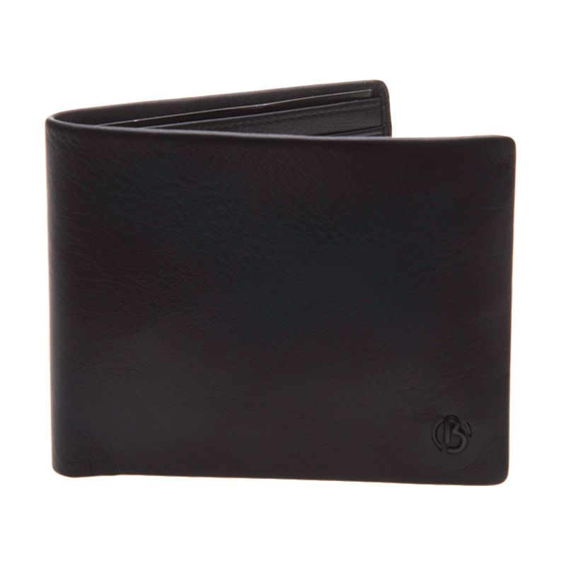 Bonia Rty Basic Short 2 Fold Right Window Leather Black Dompet