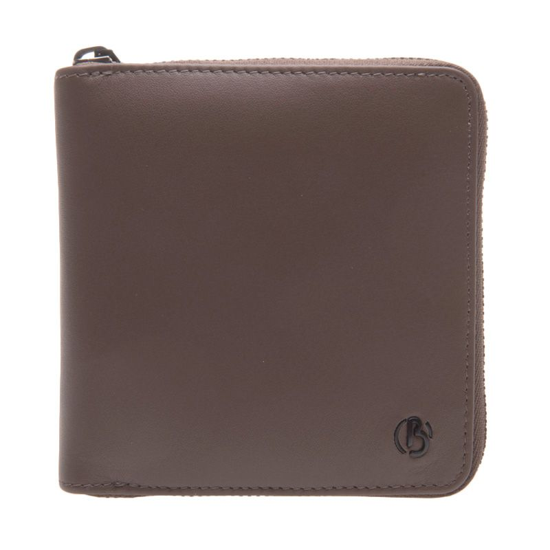 Bonia Rty Short 3 Fold Zip Leather Brown Dompet