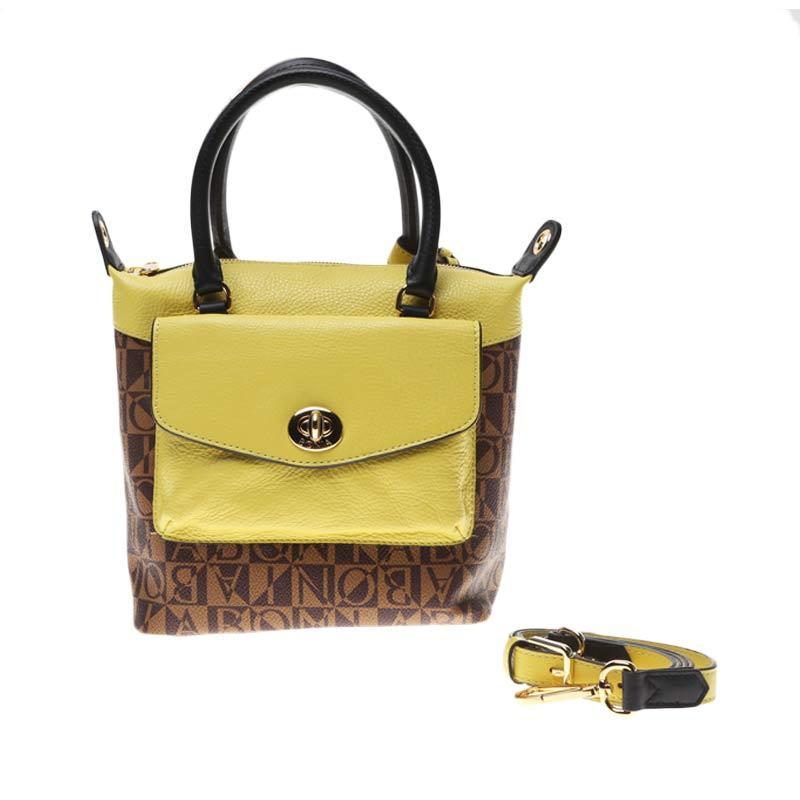 BONIA Small Leather Kelly Lime Tas Tangan