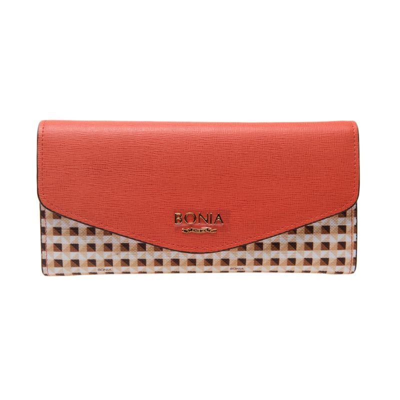 Bonia Trisha Two Fold Tone Orange Dompet