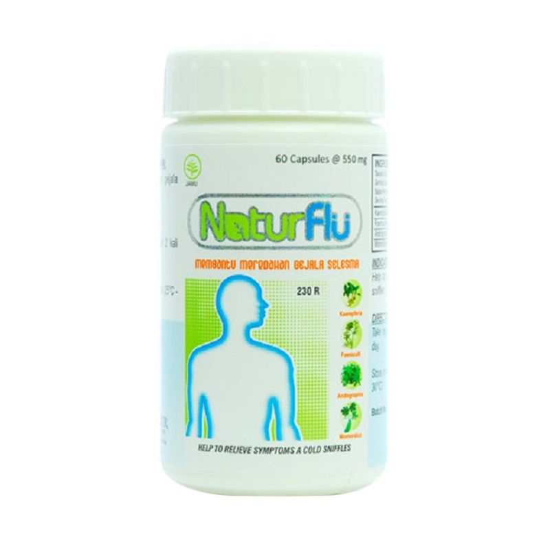 Borobudur Herbal Natur Flu Multivitamin [60 Kapsul]