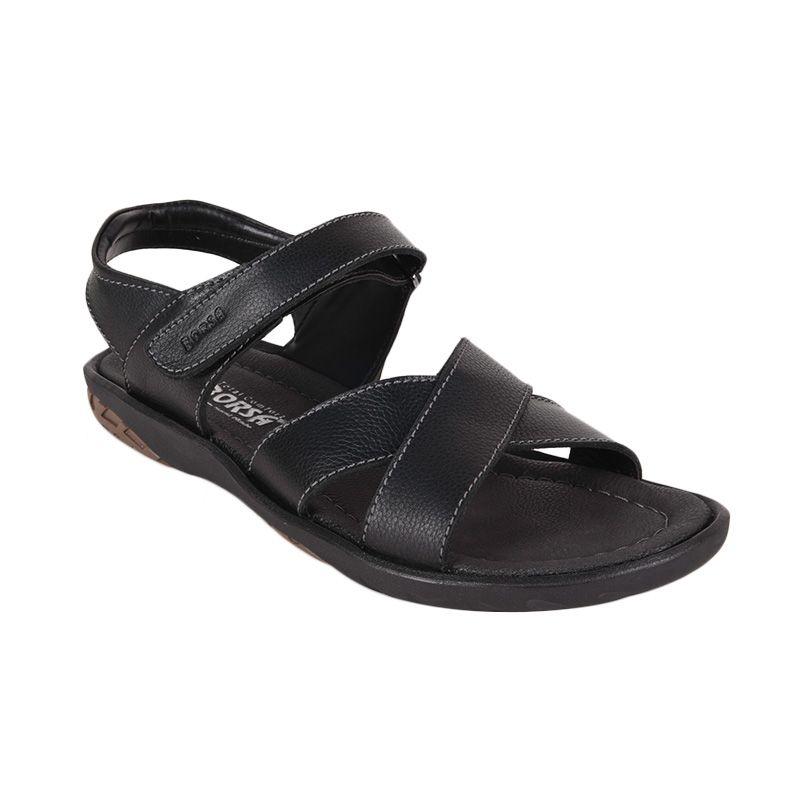 Borsa Waka 59211 Black Sandal Pria