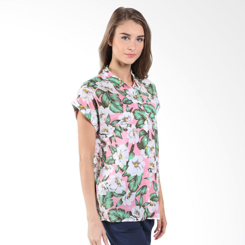 Bossini Ladies Floral Allover 621071050 Cloud Pink Blouse