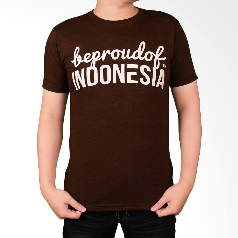 Be Proud of Indonesia Dark Brown Kaos Pria