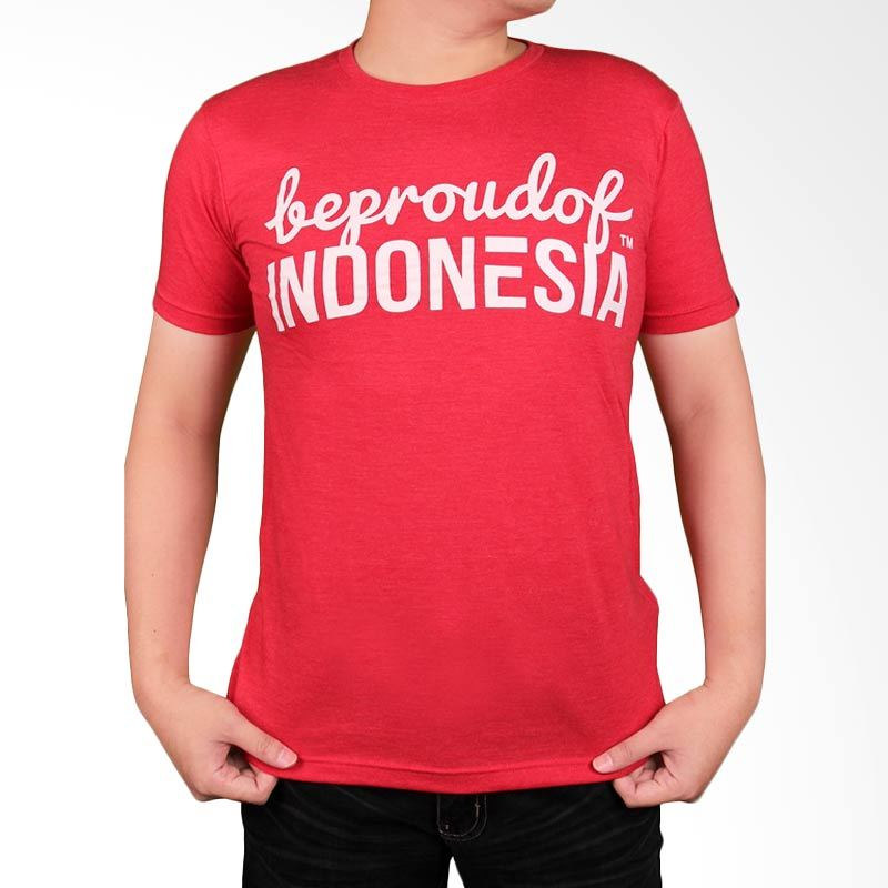 Be Proud of Indonesia Red Kaos Pria