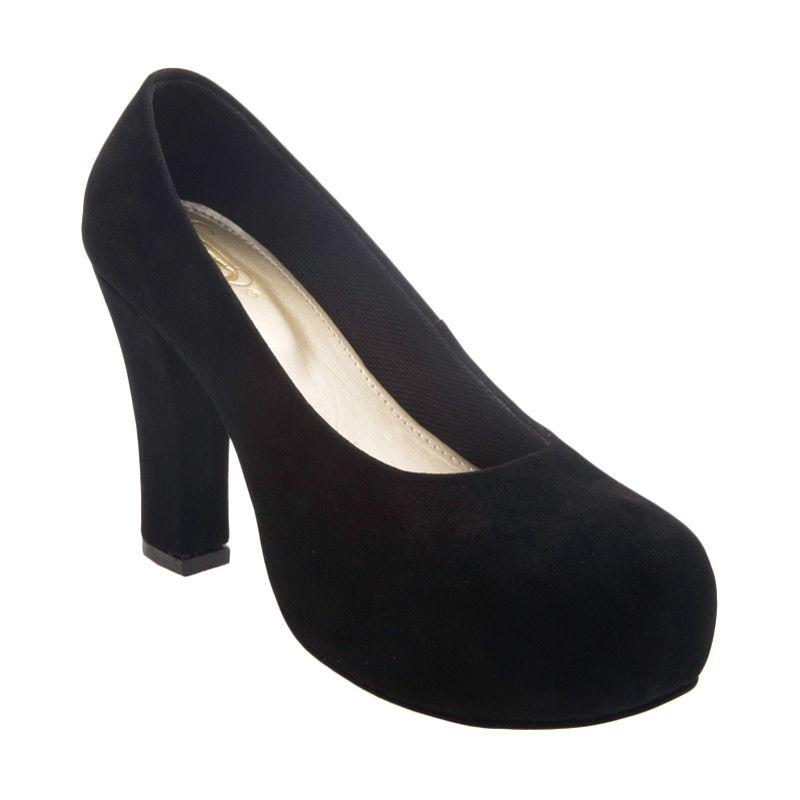 BRshoes 36 Black Sepatu Heels