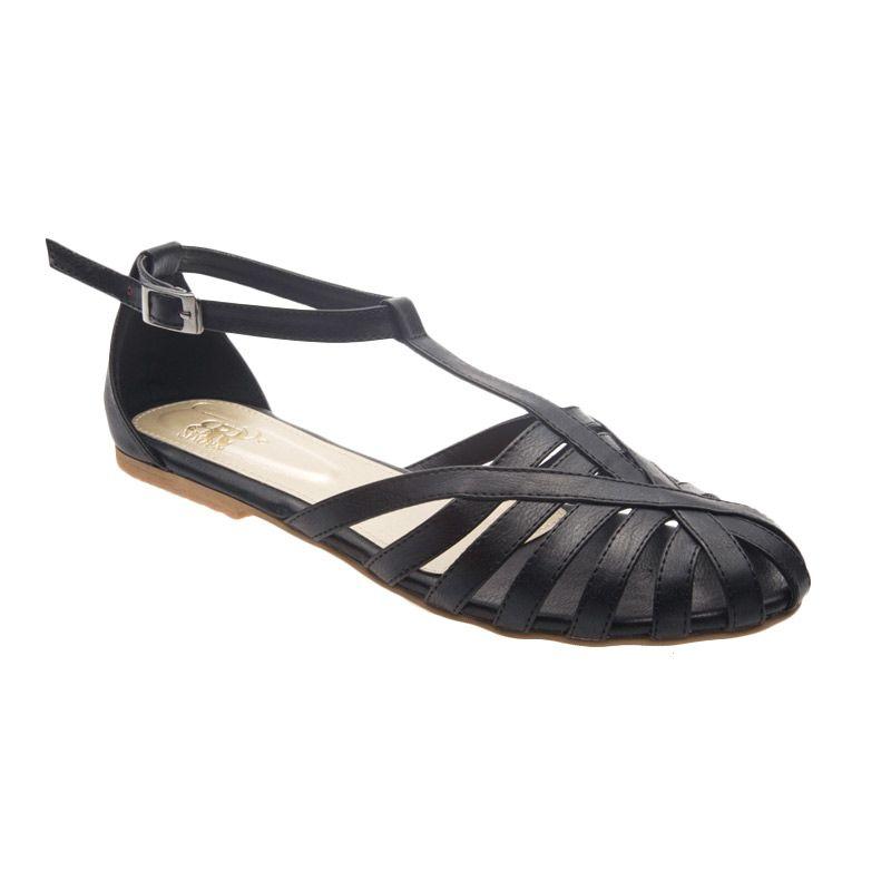 BRshoes 40 Black Flat Shoes