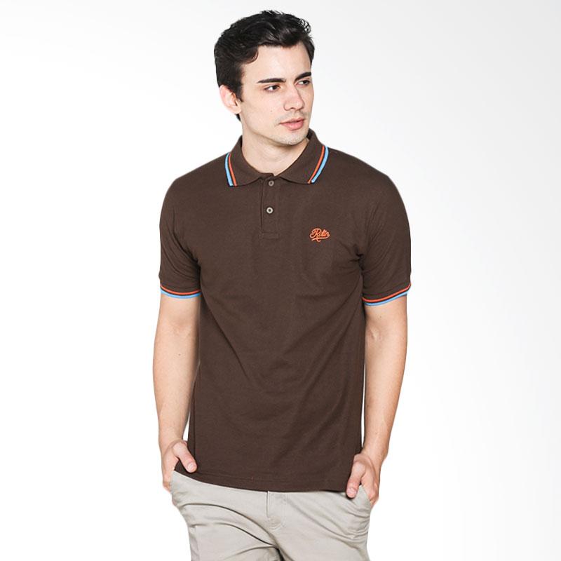 Brand Revolution 507060063333 Ervito Polo Shirt - Brown Extra diskon 7% setiap hari Citibank – lebih hemat 10% Extra diskon 5% setiap hari