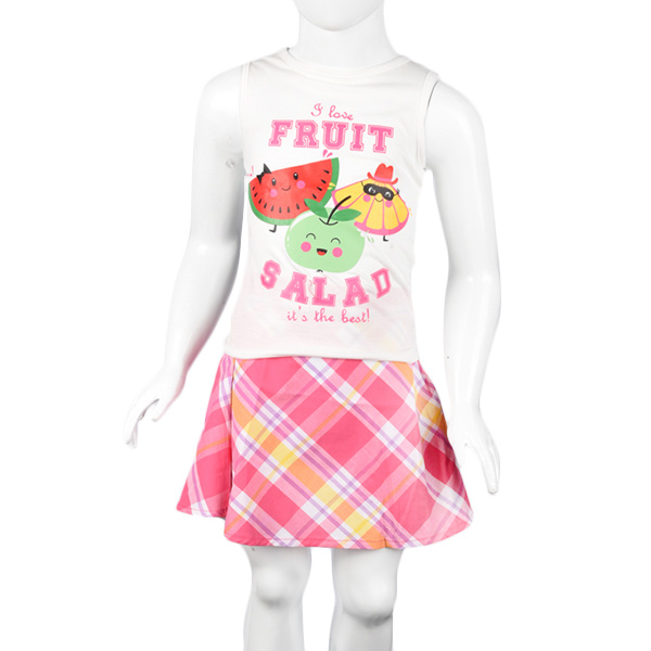 Smara BO 549 I Love Fruits White Pink Set Anak Perempuan
