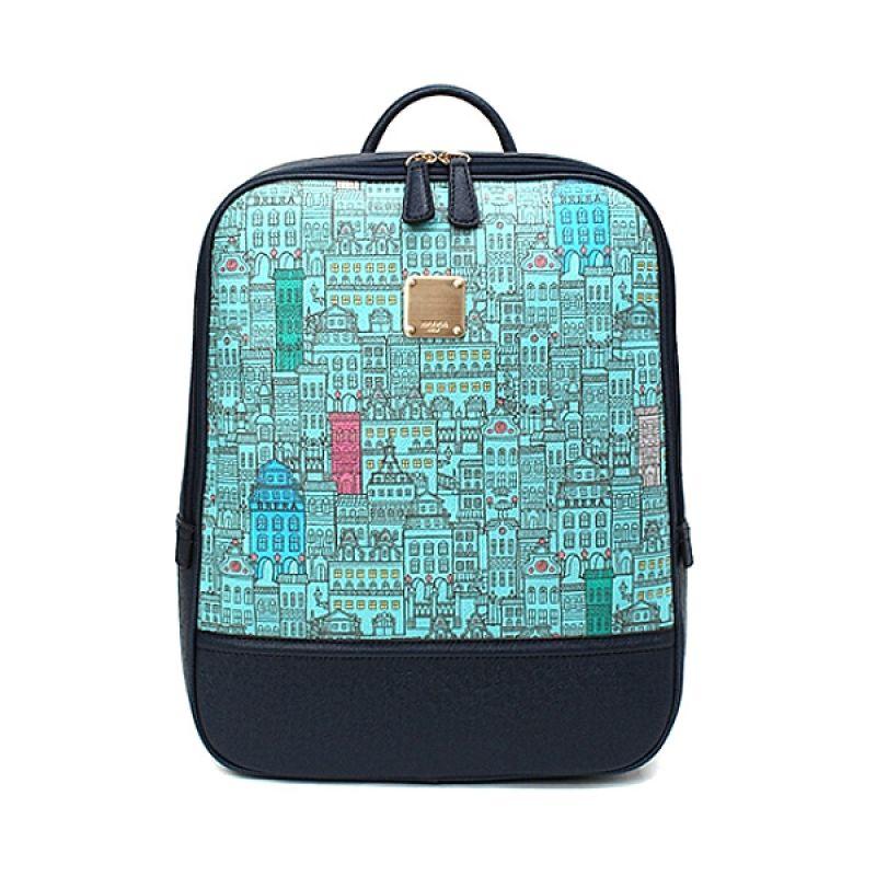BRERA City Illust Blue Backpack Tas Ransel