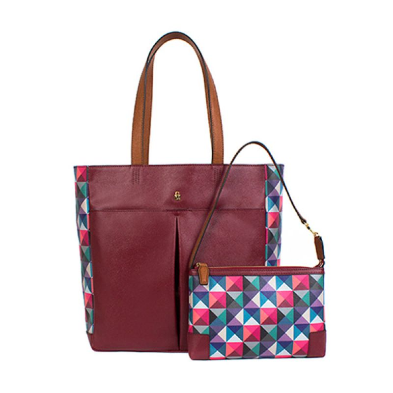 BRERA Graphic Daily Shopper Tas Tangan + Mini Wallet