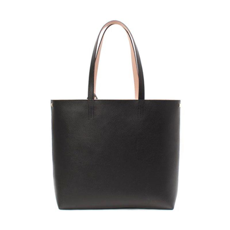 BRERA Simple Must Have Leather Black Tas Tangan