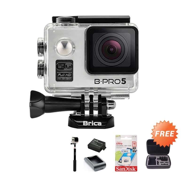 harga Brica Alpha Edition Action Cam + Free Medium Bag + Sandisk Ultra 16 GB + Baterai + Charger + Tongsis Blibli.com