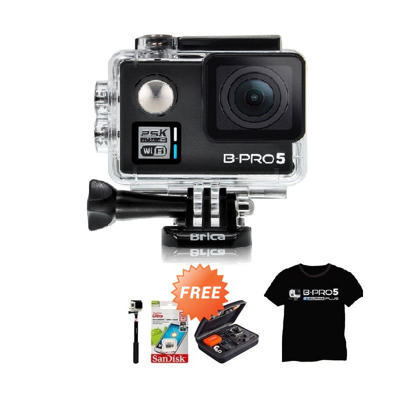 harga Brica Alpha Plus Black Action Cam + Sandisk 16 GB + SMP 07 Tongsis + Hardcase Medium + T-shirt Blibli.com