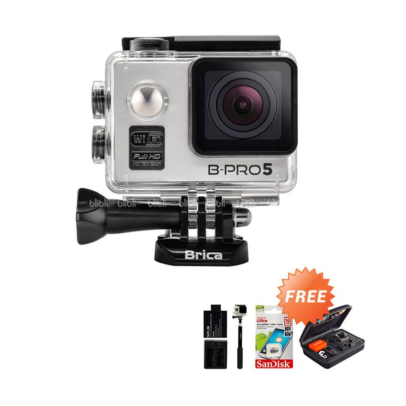 Brica B-PRO 5 Alpha Edition Combo Extreme Silver Wifi Action Camera + Bag + Memory Card + Monopod + Extra Battery + Dual Charger Extra diskon 7% setiap hari Extra diskon 5% setiap hari Citibank – lebih hemat 10%