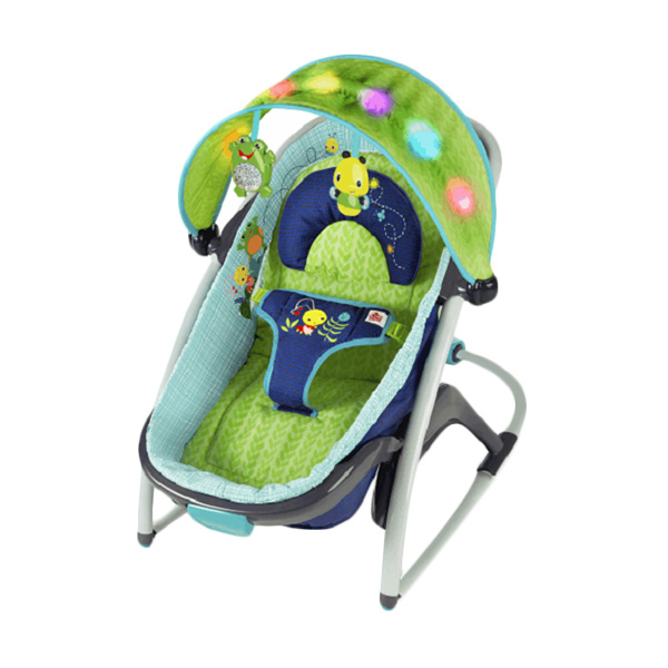 Brightstarts 2 in 1 Delight N Dream Rooker Light Up Lagoon Mainan Anak