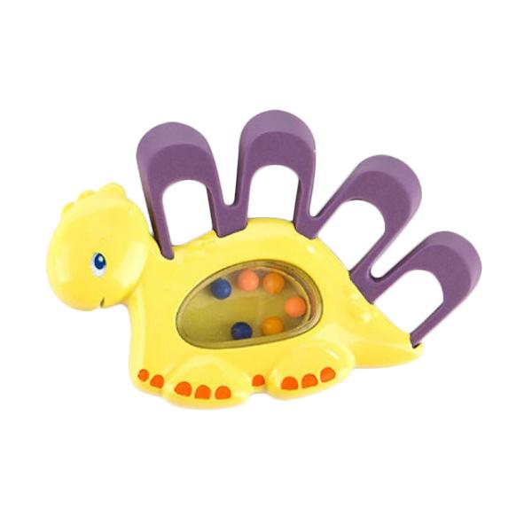Brightstarts Teethe A Saurus Purple Mainan Anak