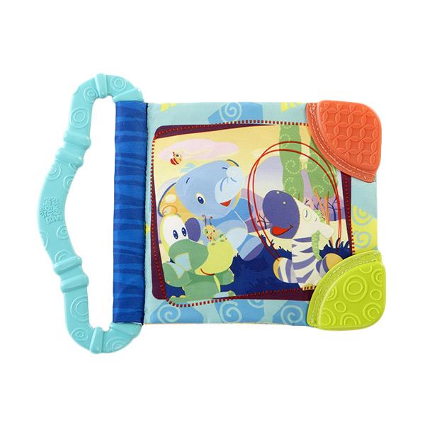 Brightstarts Teether Book New Blue Mainan Anak