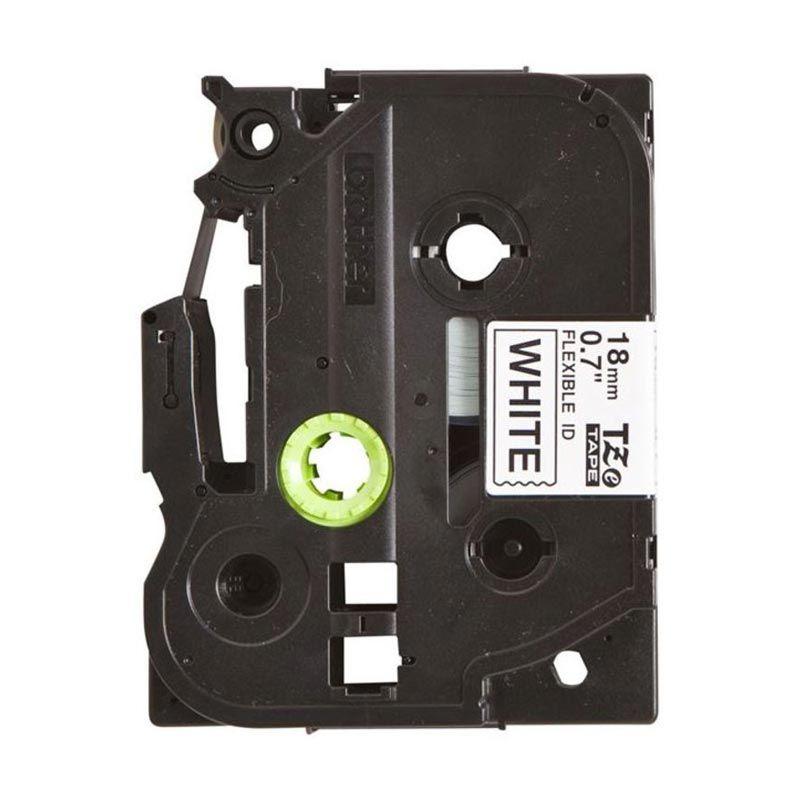 Brother Label Tape Flexible TZE-FX241 Black On White Pita Printer [18 mm]