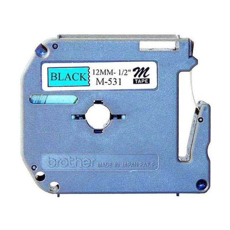 Brother Label Tape M-531 Black On Blue Label [12 mm]