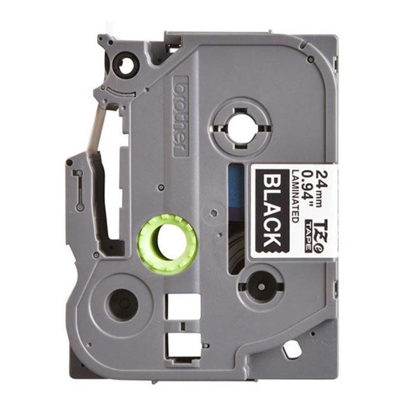 Brother Label Tape TZE-355 White On Black Pita Printer [24 mm]