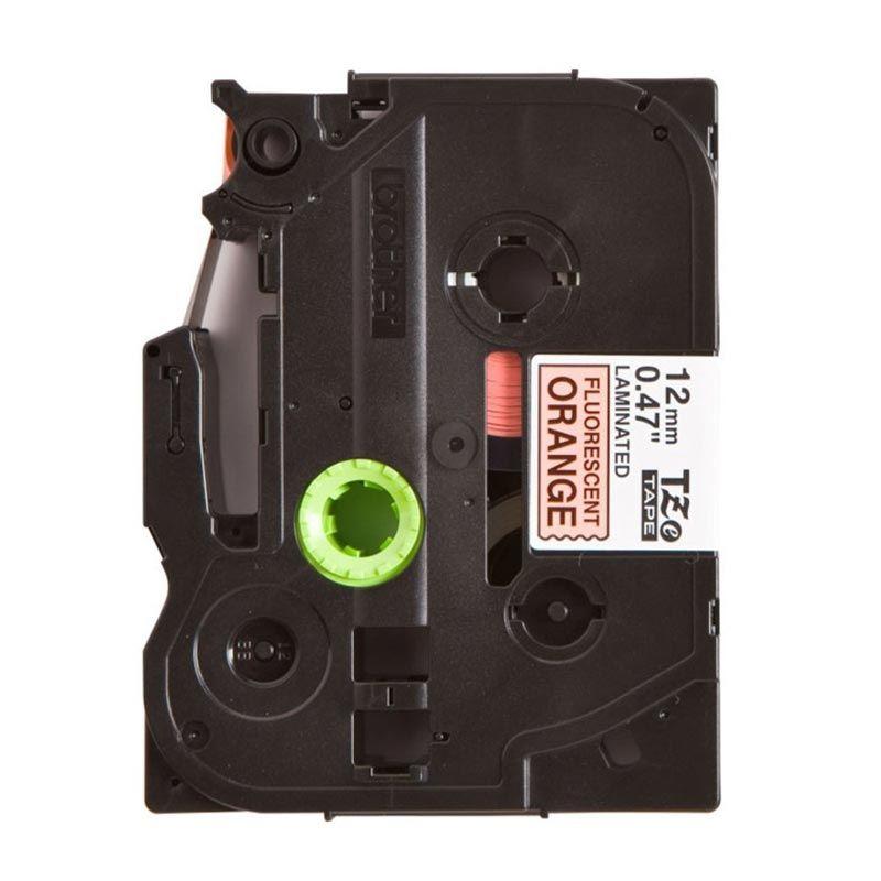 Brother Label Tape TZe-B31 Black On Flu Orange Pita Printer [12 mm]