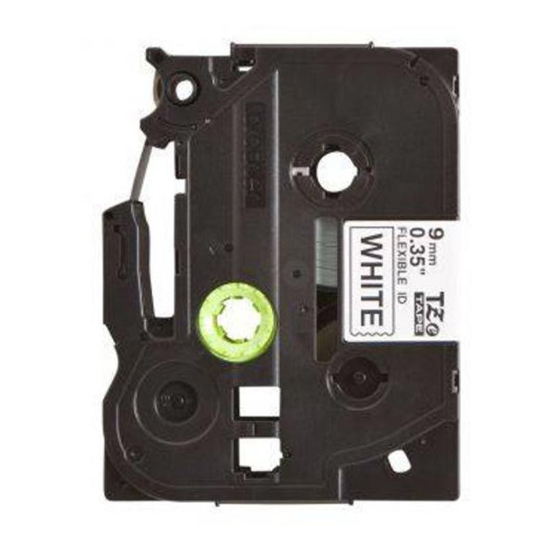 Brother Label Tape TZE-FX221 Flexible Black On White Hitam Pita Printer